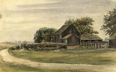 M. Conway, Earlswood Common, Surrey - Original 1889 watercolour painting