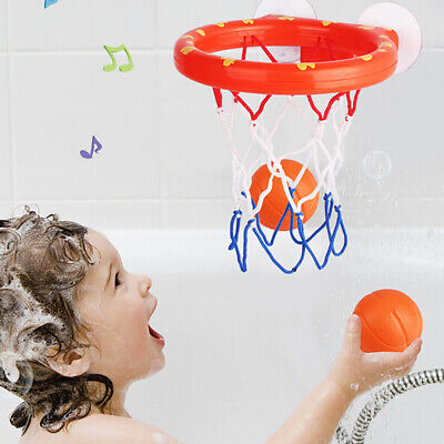 1 Set Bath Toy Basketball Hoop Suction Cup Mini Gift for Baby Toddlers Bath Well