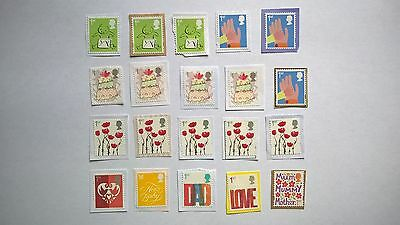 20 Unfranked First Class Greetings Stamps