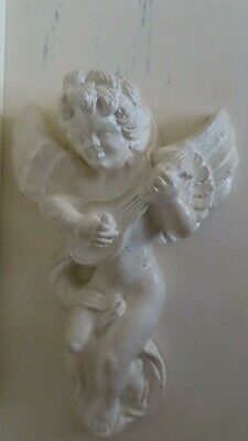 Pair vintage french Louis rococo baroque style cherub angel cupid wall plaques