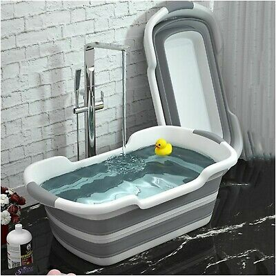 Baby Shower Portable Silicone Pet Bath Tubs Bath Accessories Baby Folding Non-Sl