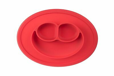 1x Red Silicone Baby Snack Mat,Compact,Lightweight,BPA free,Size:27 x 19.5 x 2cm