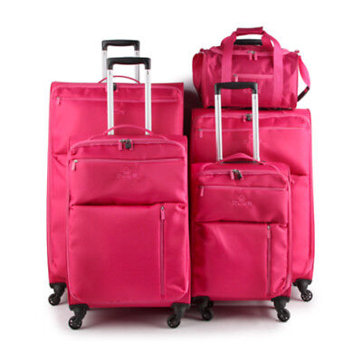 65x40x21cm MEDIUM PINK 4 Wheels Suitcase Trolley Cases Hand Luggage Cabin Bag