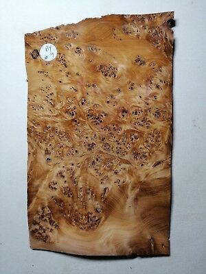 CONSECUTIVE SHEETS OF YEW BURR VENEER 15 X 25 cm BY#9  MARQUETRY