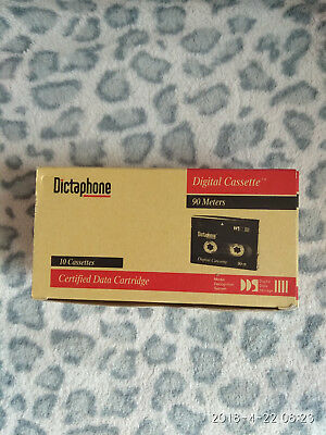 NEW DICTAPHONE 10 Cassettes DIGITAL AUDIO TAPE  DAT in Original Box 90 meters