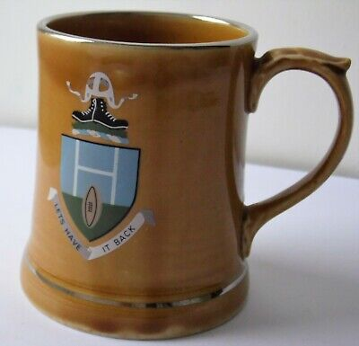 Rare Vintage Rugby Lets Have It Back Porcelain Tankard By Wade Ireland