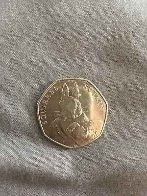 Rare Squirrel Nutkin 50p fifty pence coin