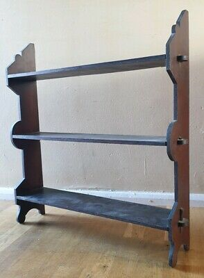 Antique Edwardian Mahogany Wall Mounted Shelves Edwardian (1901-1910) Whatnot Collectors Shelving