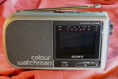TV télévision vintage LCD SONY FDL390be collector 1990