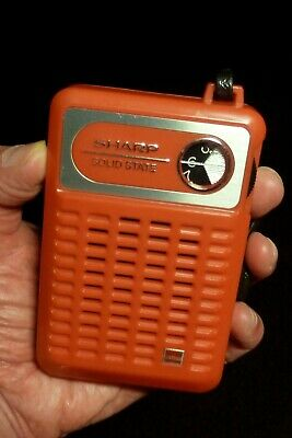 Radio vintage transistor AM rouge red SHARP BP-170 (1972) works very nice tsf