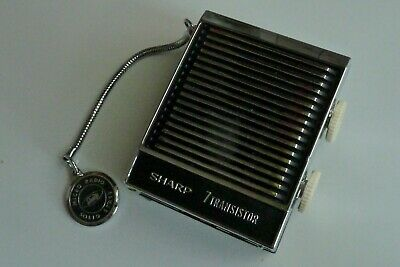 Micro mini radio vintage SHARP transistor (1964) AM black noir Japan BP-103 tsf