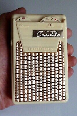 Radio vintage candle six transistor (1961) AM crème cream PTR-628 Japan tsf