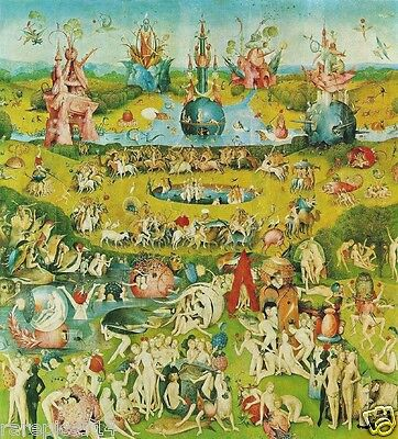 Hieronymus Bosch The Garden of Earthly Delights Ltd Ed 1st Print Orig 1960 Litho