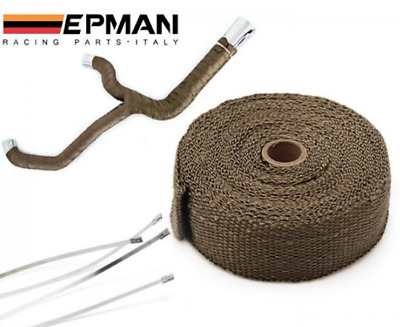 Titanium Exhaust Insulation Wrap 2 Inch Wide 10m Length grey Turbo THERMAL TAPE