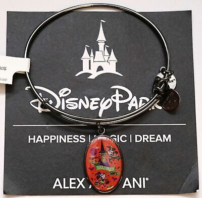 NEW Disney Parks ALEX AND ANI Mickey Halloween Party 2018 Silver Bracelet MNSSHP