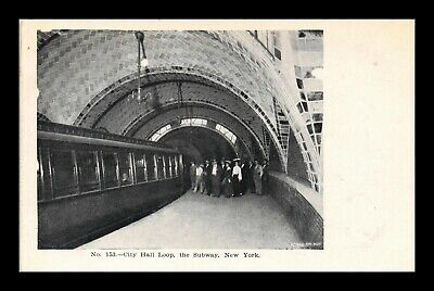 Dr Jim Stamps Us Postcard New York Subway City Hall Loop