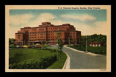 Dr Jim Stamps Us Postcard Veterans Hospital Beckley West Virginia Linen