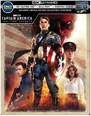 Captain America The First Avenger 4K Ultra HD, Blu-ray, Digital Copy Steelbook