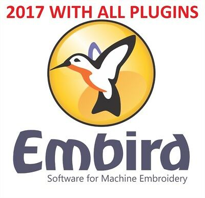 Embird 2017 embroidery software, All Plugins Works with all O.S 32+64 Bit