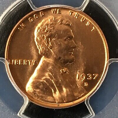 1937-D 1C RD Lincoln Wheat One Cent  PCGS MS66RD                   36637776