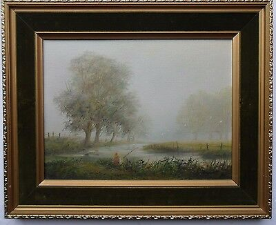 Ted Dyer B1940 Fine Original Signed Oil On Canvas 'River Avon' With Certificate