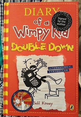 Diary of a Wimpy Kid: Double Down by Jeff Kinney Signed 1/1st Edition