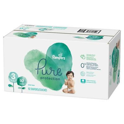 Pampers Pure Protection Disposable Diapers Size 3 (16-28lbs) + Baby Wipes