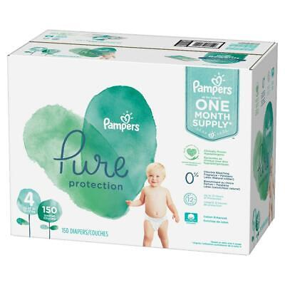 Pampers Pure Protection Disposable Diapers Size 4 (22-37lbs) + Baby Wipes