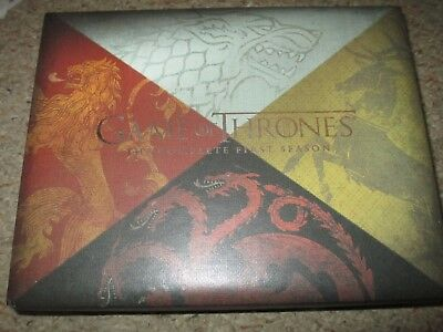 Game of Thrones: Season 1 (Blu-ray/DVD, 2012, 8-Disc Set, With Dragon Egg) First