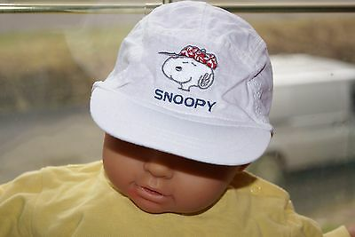 **£** casquette blanche H&M SNOOPY - 3-6mois