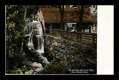 Dr Jim Stamps Us Postcard Old Town Mill Circa 1650 New London Connecticut