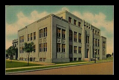 Dr Jim Stamps Us Postcard Curry County Court House Clovis New Mexico Linen
