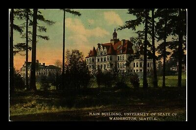 Dr Jim Stamps Us Postcard Main Building University State Of Washington Seattle