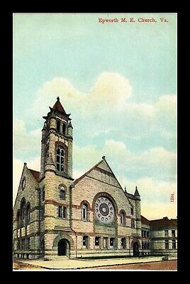 Dr Jim Stamps Us Postcard Epworth Me Church Norfolk Virginia