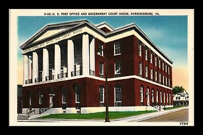 Dr Jim Stamps Us Postcard Us Post Office And Court House Harrisonburg Virginia