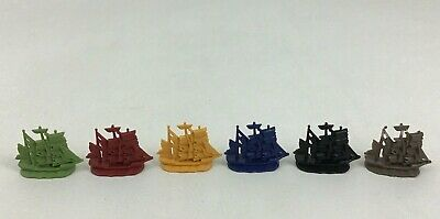Pirates of the Caribbean Life Replacement Pieces Toy Ships 6pc Lot