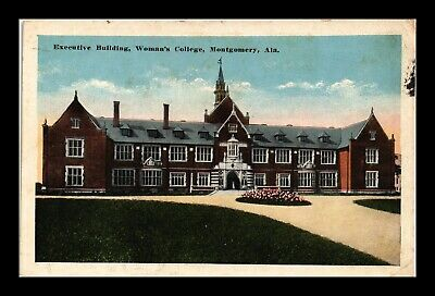 Dr Jim Stamps Us Postcard Womans College Executive Building Montgomery Alabama