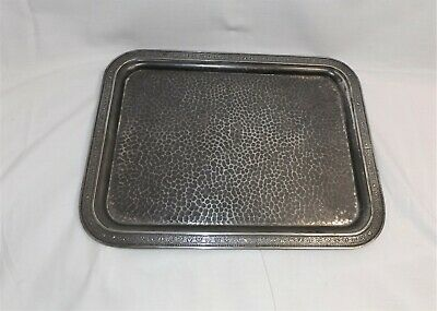 Vintage Serving Tray, Middletown Plate Co. Quadruple Plate Hard Metal, Beautiful