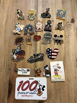 Walt Disney World Trading Pins Lot Of 19 And More Rare Collectible