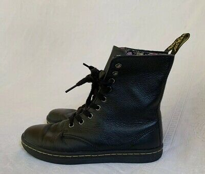 6e44c259b16 DR MARTENS STRATFORD Womens Shoes Boots High Ankle Canva Cherry Red ...