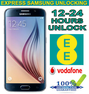 Factory Unlock Code Service For SAMSUNG S6 S7 S8 & S9 UK O2 Vodafone & EE -24Hrs
