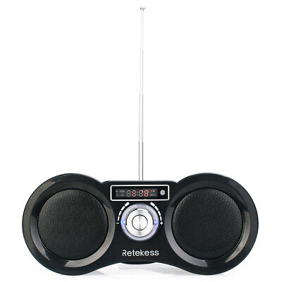 Portable FM Stereo Radio Digital Speaker Remote Control Rechargeable AU