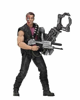 "Terminator 2 Kenner Tribute POWER ARM T-800 7"" Scale Action Figure NECA"