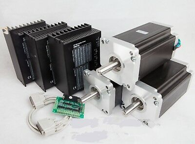 US Free Ship 3Axis Nema42 Stepper Motor 4120oz-in 8.0A &Driver CNC Router