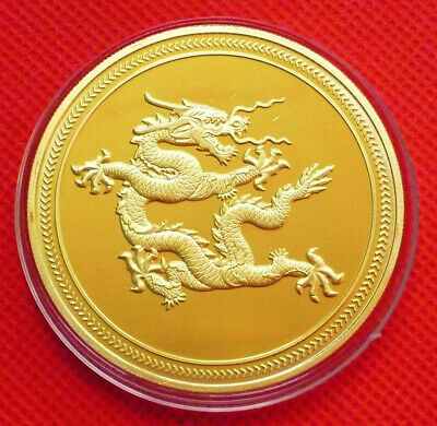 Gold plated Chinese zodiac pig anniversary commemorative coins souvenir coins /&T