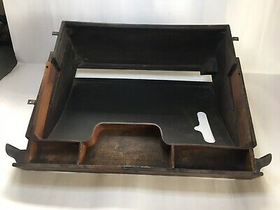 Vintage Cast Iron Singer Treddle Sewing Machine Wood Center Drawer Assembly