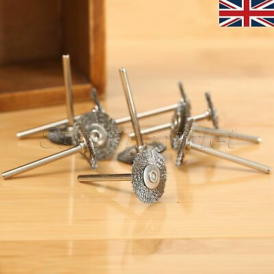 10Pcs Stainless Steel Wire Wheel Brushes Polish Rotary Tool Power Die Grinder UK