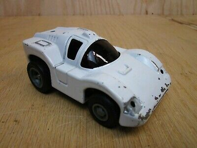 Vintage White Tonka Toy All Steel Race Car - Made in Japan