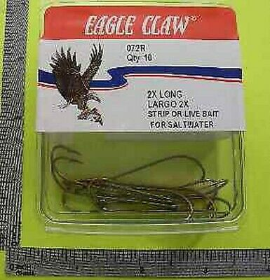 Eagle Claw 72r #6 10ct Extra Lang Messing Haken