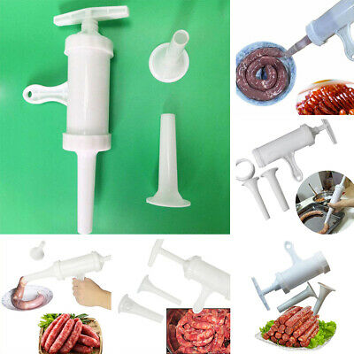 Manual Sausage Machine Meat Stuffer Filler Hand Operated Salami Maker+Funnel AU